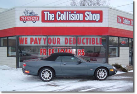 The Collision Shop of Westland - building