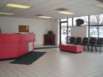 Lobby of The Collision Shop of Westland