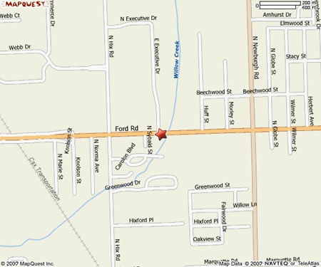 Mapquest Map - The Collision Shop Westland